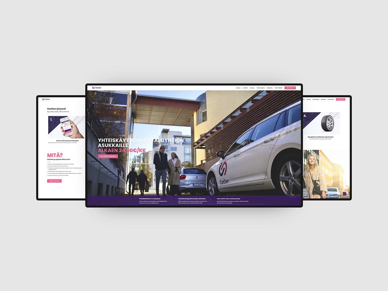 nettisivut, UI design, UX, graafinen suunnittelu